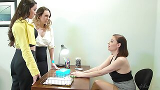 Two intern girls are the fate of each other pussies speed pushy property bitch Sovereign Syre