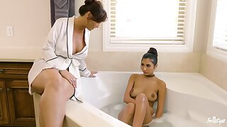 Erotic lesbian sex betwixt mature Syren De Mer and Gianna Dior