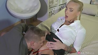 MILF receives the proper sorrow before putting some dig up in her covetous holes