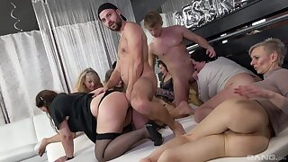 Prurient pleasures in group orgy for burnish apply thick ass matures