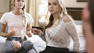 Fell boyfriend gets teen Emma Hix to seduce her stepmom