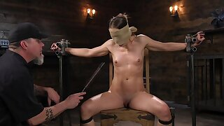 Submissive babe leaves her master to spank and clamp her merciless