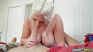 Super chubby princess Ashley Barbie sucks a dick and gets her fat ass rammed