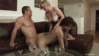 Needy action for a pair of bi-sexual lovers and a grown-up