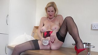I am in my Holiday Cottage and I have stripped off in my Kitchen Now its time for your cooking Lesson and Im going to show you how I mash the Spuds I reach for the Masher and its shaft is so smooth I just cant resist playing with it and it slides easily up my wet juicy pussy and feels so good and its soon covered with my thick creamy cum, but back to my spuds I reach for the pan and squat over it and with the Masher firmly fixed in my pussy I mash those spuds.Molly xxx