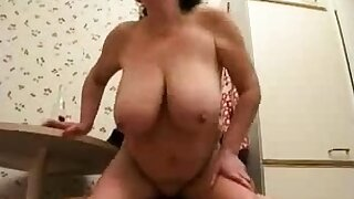 Russian mature wife cheating with young dude