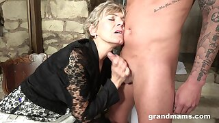 Granny loves yon drag inflate a hard dick yon feel young again. Amateur