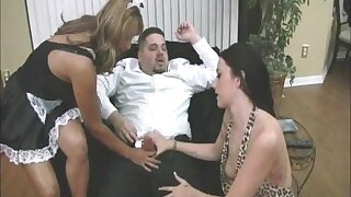 Rigorous camera records a obese guy getting double handjob newcomer disabuse of sexy sluts