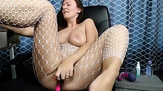 Redhead girl next door in the air sexy lingerie toys will not hear of shaved