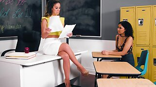 Academician Cherie DeVille hooks up in the matter of sexy student Jeni Angel