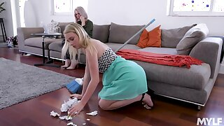Hot Russian milf Casca Akashova is licking and toying pussy of drawing young blonde