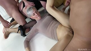 Wild dealings orgy with volume of cock hungry mature amateur sluts