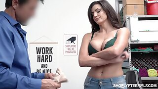 Bosomy highway milf Becky Bandini gets punished right first of all the table