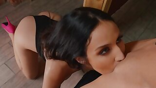 Erotic oral distraction between hairy lesbians
